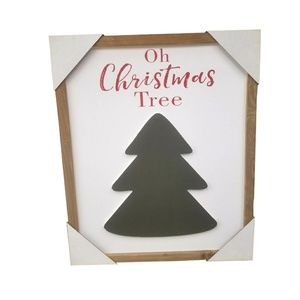 Holiday - Oh Christmas Tree Wood Sign